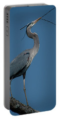 Portable Battery Charger featuring the photograph Blue Heron 2011-0322 by Donald Brown