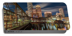 Blue Hour In Boston Harbor Portable Battery Charger