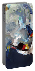 Portable Battery Charger featuring the painting Blue by John Jr Gholson