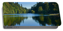 Blue Lake Reflections  Portable Battery Charger