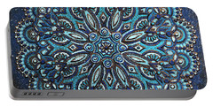 Blue Mandala Portable Battery Charger
