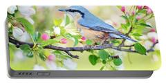 Blue Orange Bird Portable Battery Charger