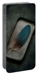 Blue Parrot Feather Portable Battery Charger