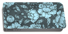 Blue Peonies Portable Battery Charger