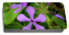 Blue Phlox Portable Battery Charger