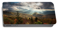 Blue Ridge Mountains Asheville Nc Scenic Autumn Landscape Photography Portable Battery Charger