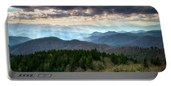 Blue Ridge Mountains Asheville Nc Scenic Light Rays Landscape Photography Portable Battery Charger