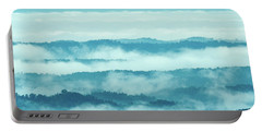 Blue Ridge Mountains Layers Upon Layers In Fog Portable Battery Charger