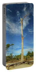 Blue Skies And Broken Branches Portable Battery Charger