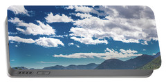 Portable Battery Charger featuring the photograph Blue Skies And Mountains II by James L Bartlett