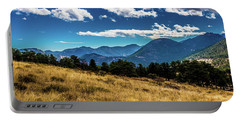 Portable Battery Charger featuring the photograph Blue Skies And Mountains by James L Bartlett