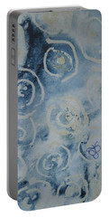 Portable Battery Charger featuring the drawing Blue Spirals by AJ Brown