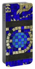 Blue Tile Detail Portable Battery Charger