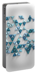 Blue Triangles Portable Battery Charger