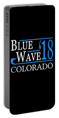 Blue Wave Colorado Vote Democrat 2018 Portable Battery Charger