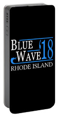 Blue Wave Rhode Island Vote Democrat 2018 Portable Battery Charger