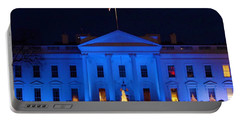 Blue White House Portable Battery Charger