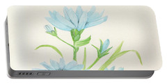 Blue Wildflowers Watercolor Portable Battery Charger