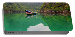 Boat On Halong Bay 2, Vietnam Portable Battery Charger