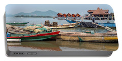 Boats In Lang Co - Hue, Vietnam Portable Battery Charger