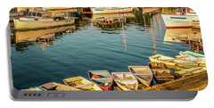 Boats In The Cove. Perkins Cove, Maine Portable Battery Charger