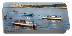 Boats In The Harbor Havana Cuba 112605 Portable Battery Charger