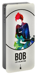 Bob Dylan Watercolor Portable Battery Charger