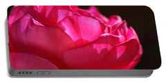 Bold Bright Pink Rose Portable Battery Charger