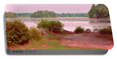 Borderland Pond With Monet's Palette Portable Battery Charger