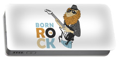 Born To Rock - Baby Room Nursery Art Poster Print Portable Battery Charger