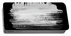 Boston Skyline Brush Stroke White Portable Battery Charger