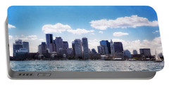 Boston Skyline From Boston Harbor  Portable Battery Charger