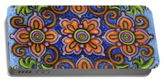 Botanical Mandala 1 Portable Battery Charger