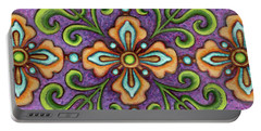 Botanical Mandala 10 Portable Battery Charger