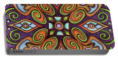 Botanical Mandala 11 Portable Battery Charger