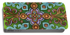 Botanical Mandala 4 Portable Battery Charger
