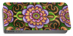 Botanical Mandala 5 Portable Battery Charger