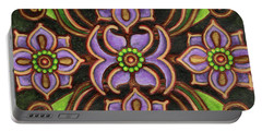 Botanical Mandala 6 Portable Battery Charger