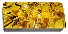 Portable Battery Charger featuring the digital art Boules D Or by A zakaria Mami