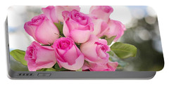 Bouquet Of Pink Roses Portable Battery Charger