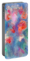 Portable Battery Charger featuring the painting Bouquet Of Roses by Dobrotsvet Art
