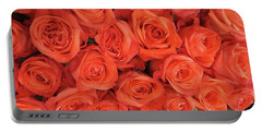 Bouquet Of The  Living Coral Roses Portable Battery Charger