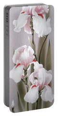 Bouquet Of White Irises Portable Battery Charger