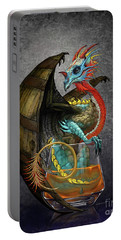Portable Battery Charger featuring the digital art Bourbon Dragon by Stanley Morrison