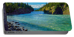 Bow River In Banff Portable Battery Charger