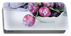 Bowl Of Fresh Plums Portable Battery Charger