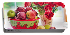 Bowl Of Red Apples Portable Battery Charger