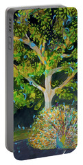 Branching Out Peacock Portable Battery Charger