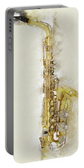 Brass Saxophone Portable Battery Charger