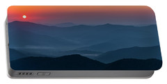 Portable Battery Charger featuring the photograph Brasstop Bald Sunrise Panorama by Andy Crawford